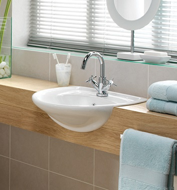 Semi Recessed Washbasin