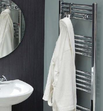 Straight Chrome Heated Towel Rails