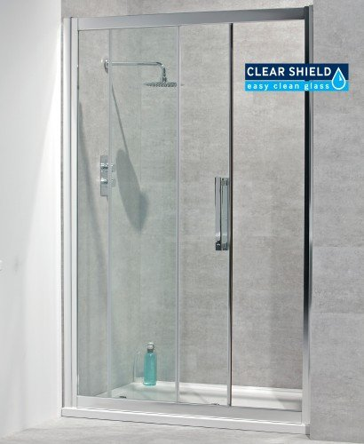 Aktive 8mm 1100 Sliding Shower Door - Adjustment 1040-1100mm