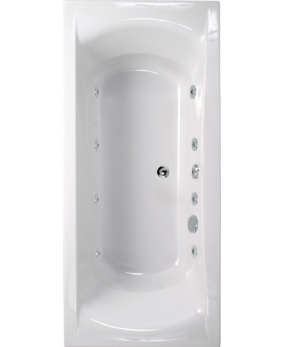 Arena 1700x750 Double Ended 8 Jet Whirlpool Bath