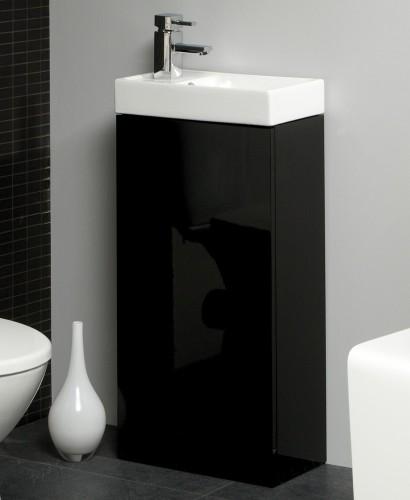 Basle 40cm Black Floor Standing Unit & Cloakroom Basin - Basle Saving