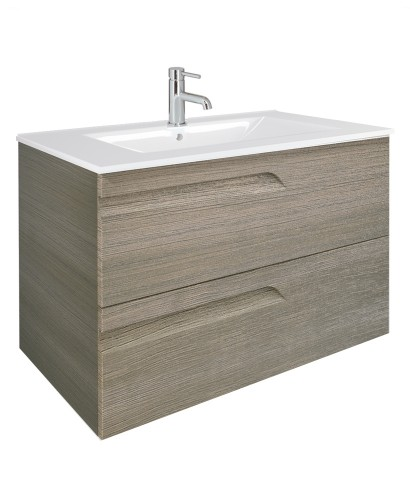 Brava Ash 80cm Vanity Unit 2 Drawer and Basin