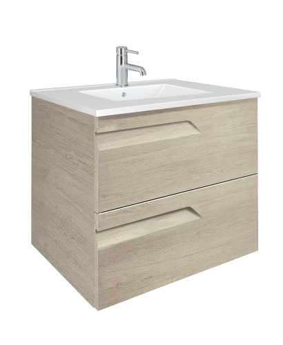 Brava Maple 60cm Vanity Unit 2 Drawer and Basin
