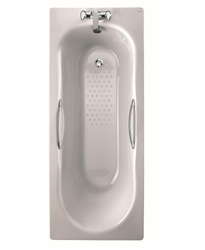 Celtic 1600x700 Twin Grip Steel Bath - 2 Tap Hole Anti Slip