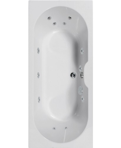 Calisto 1700x750 Double Ended 12 Jet Whirlpool Bath