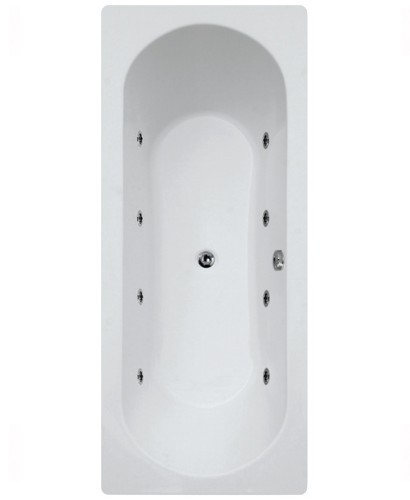 Clover  1800 x 800 Double Ended 8 Jet Whirlpool Bath