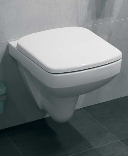 E100 Square Wall Hung Toilet & Standard Seat