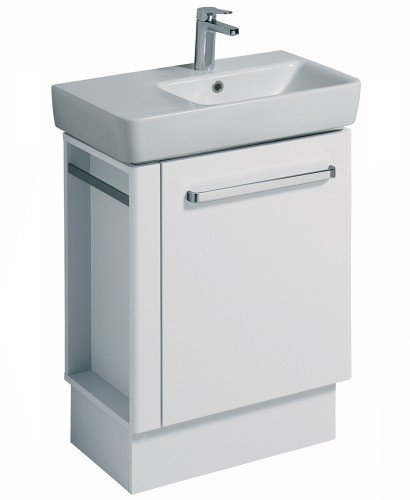 E200 650 White Vanity Unit Floor Standing with LH Towel Rail