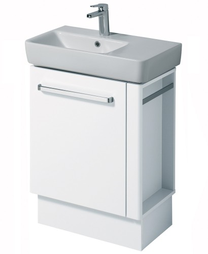 E200 650 White Vanity Unit Floor Standing with RH Towel Rail