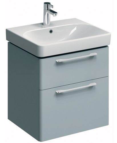 E500 600 Grey Vanity Unit Wall Hung