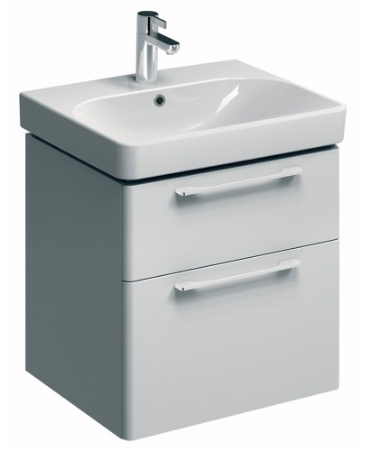 E500 600 White Vanity Unit Wall Hung