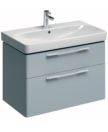 E500 900 Grey Vanity Unit Wall Hung