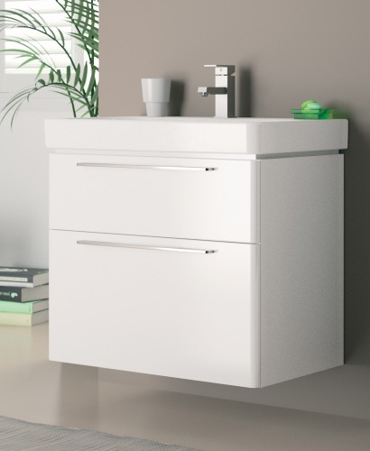 E500 900 White Vanity Unit Wall Hung