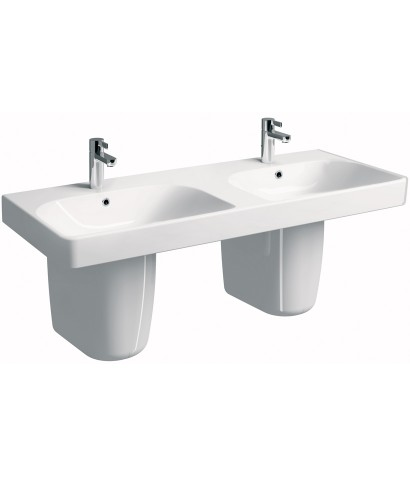 E500 Square 1200 Double Basin & Semi Pedestal