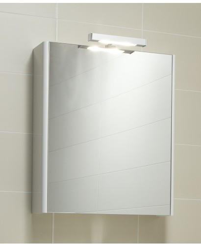 Ella 60 Mirror Cabinet & Light - White