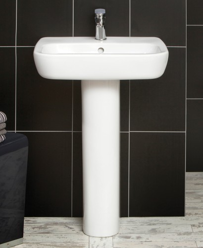 Facile Basin 60cm & Pedestal - *Special Offer includes Cosmos Basin Mixer