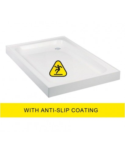 JT Ultracast 1000x900 Rectangle Upstand Shower Tray - Anti Slip
