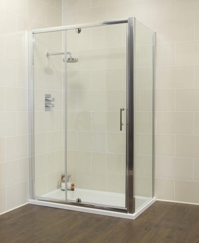 K2 Range 1000 Pivot & Inline door with Side Panel