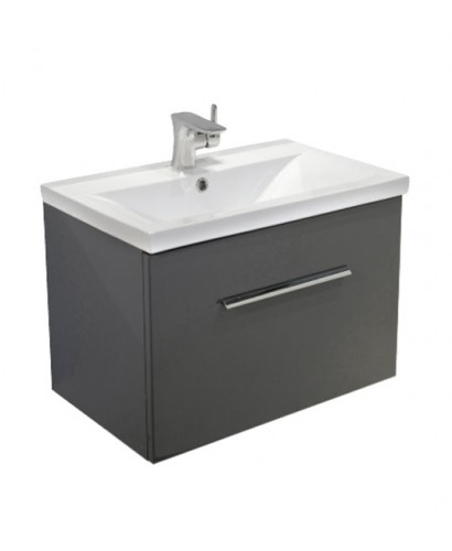 Nova Anthracite  Slimline 50cm Wall Hung Vanity Unit