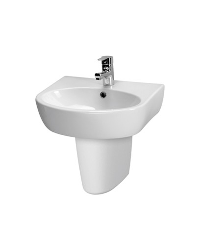Parva Basin 50cm & Semi Pedestal (1TH) with Tap  - *Special Offer