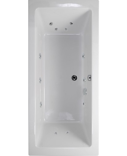 Plane 1700x700 Double Ended 12 Jet Whirlpool Bath - Extra Deep