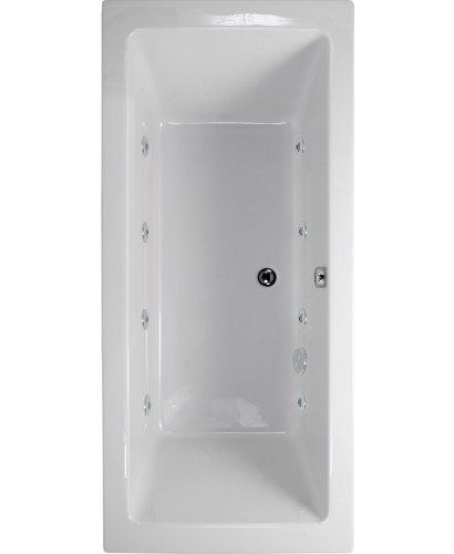 Plane 1700x750 Double Ended 8 Jet Whirlpool Bath - Extra Deep