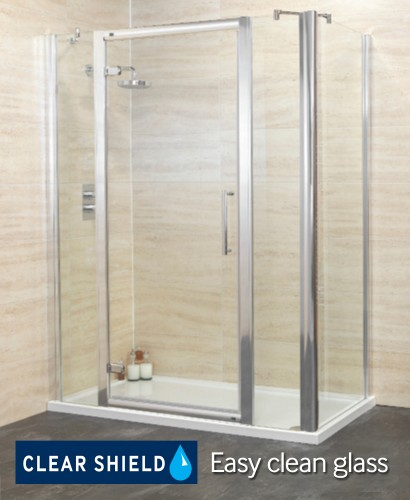 Revive 1400 Hinge Shower Enclosure with Two Infill Panels