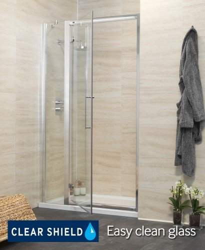 Revive 1000 Hinge Shower Door with Single Infill Panel - Adjustment 940-1000mm