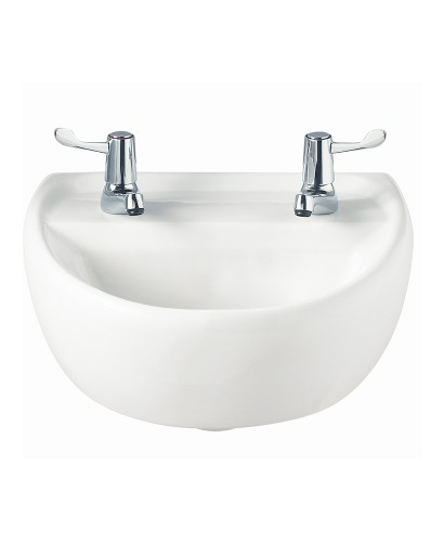 Sola Medical 400 Washbasin 2 Tap Hole
