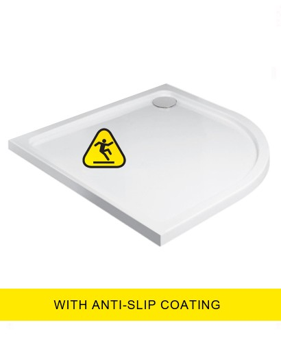 Kristal Low Profile 1000X800 Quadrant RH Shower Tray -Anti Slip with FREE shower waste
