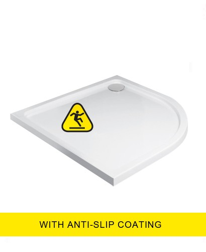 Kristal Low Profile 1000 Quadrant Shower Tray - Anti Slip with FREE shower waste