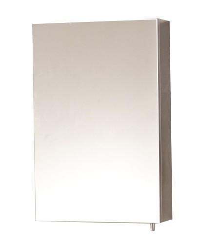 Stilo single door mirror cabinet 400 x 600 mirrors for Bathroom cabinet 600 x 400