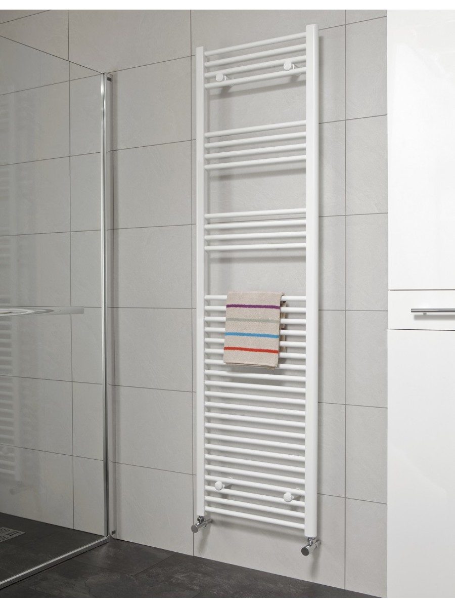 Straight 1800x600 Heated Towel Rail White