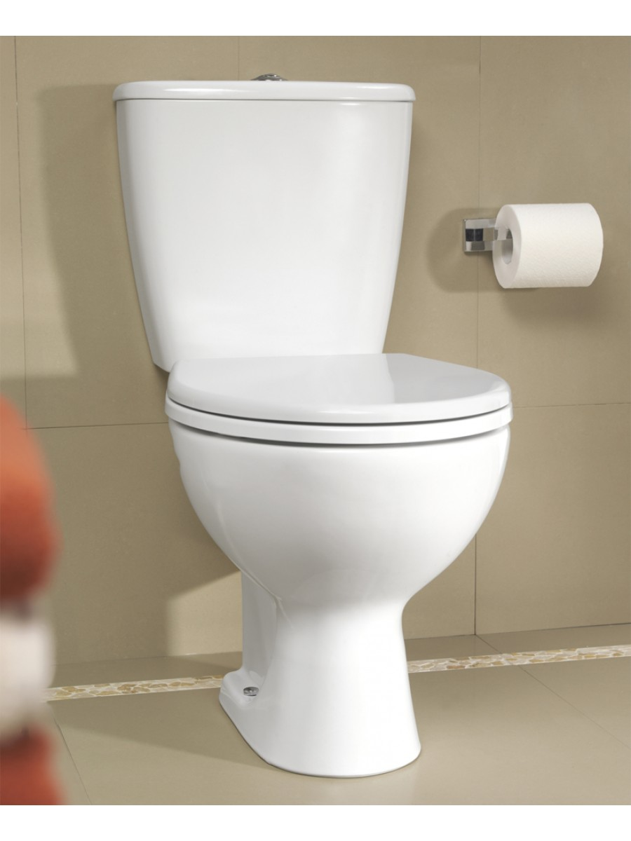 Twyford Alcona Close Coupled Toilet & Soft Close Seat