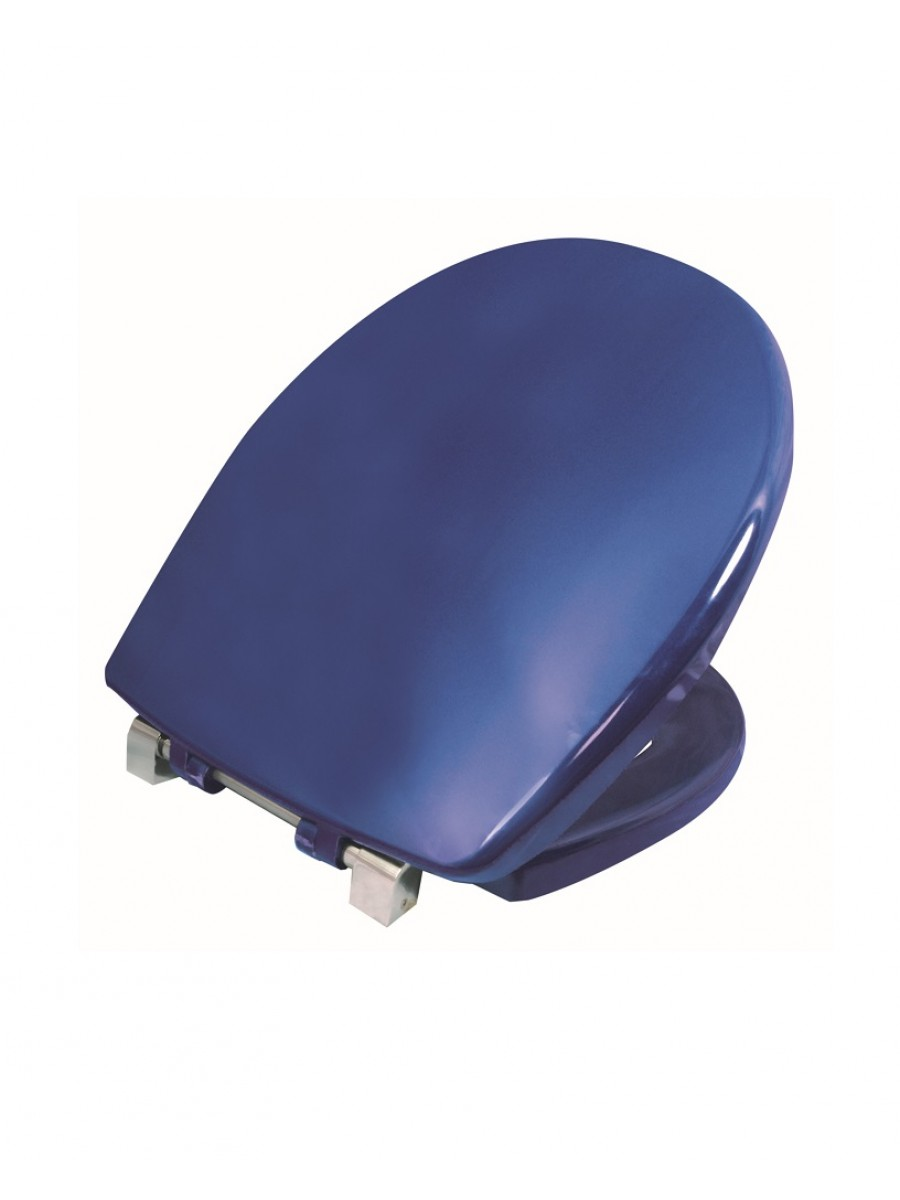 Avalon Seat & Cover Blue Top Fix Steel Hinge