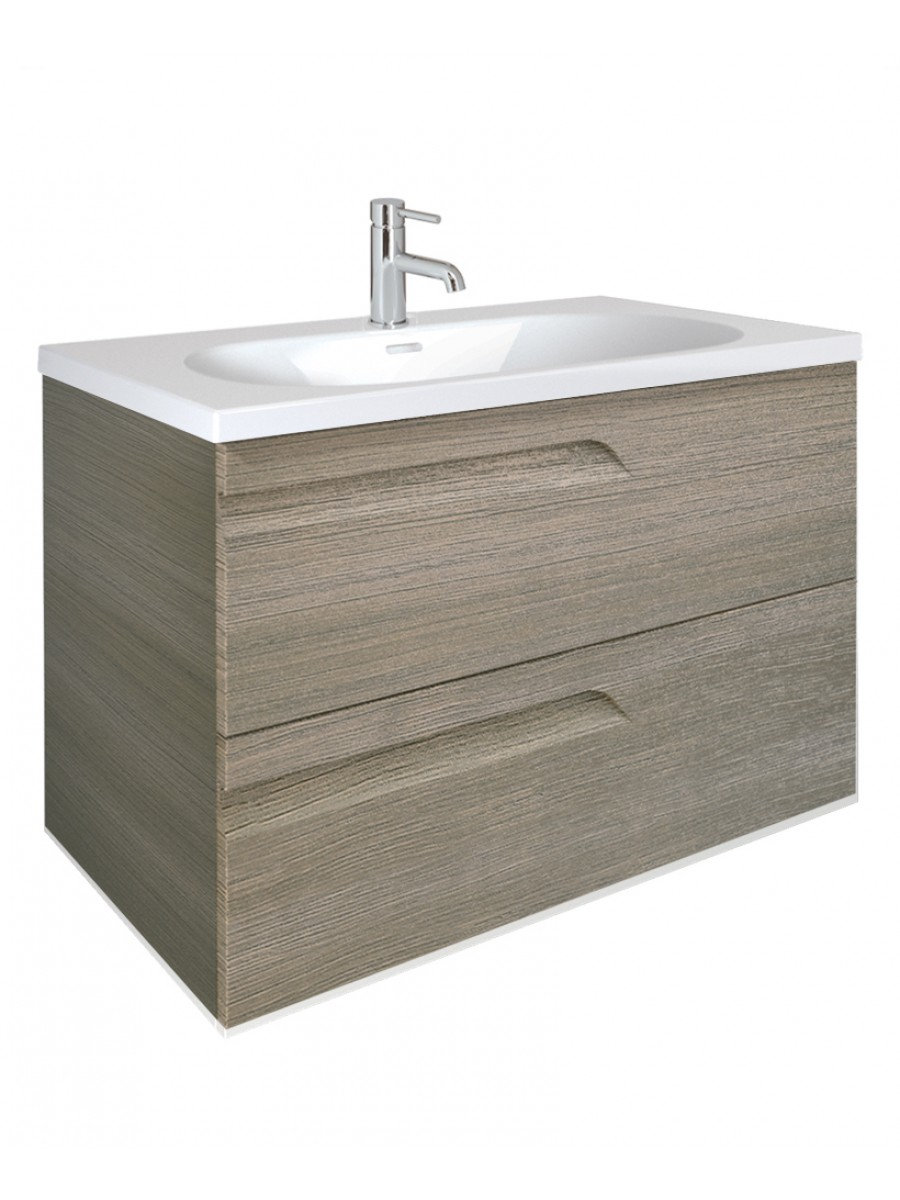 Brava Ash 80cm Vanity Unit 2 Drawer and Idea Basin