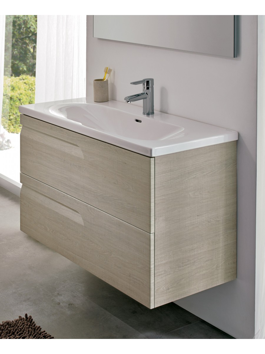 Brava Maple 80cm Vanity Unit 2 Drawer and Idea Basin