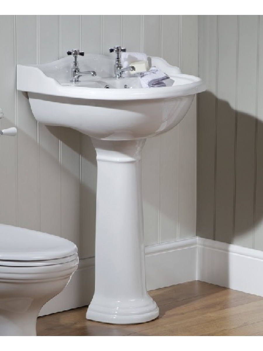 Cambridge Basin 60cm & Pedestal  2 TH