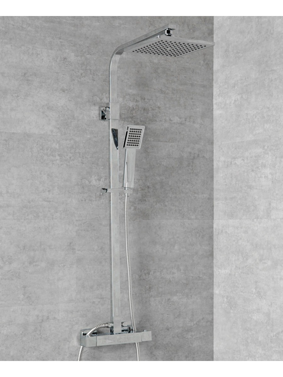 Square Thermostatic Shower Kit