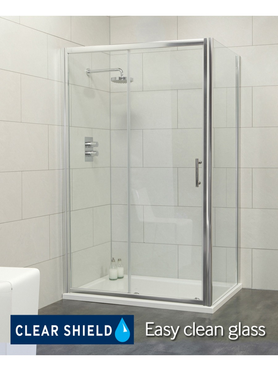 City 1200 Sliding Enclosure with Side Panel
