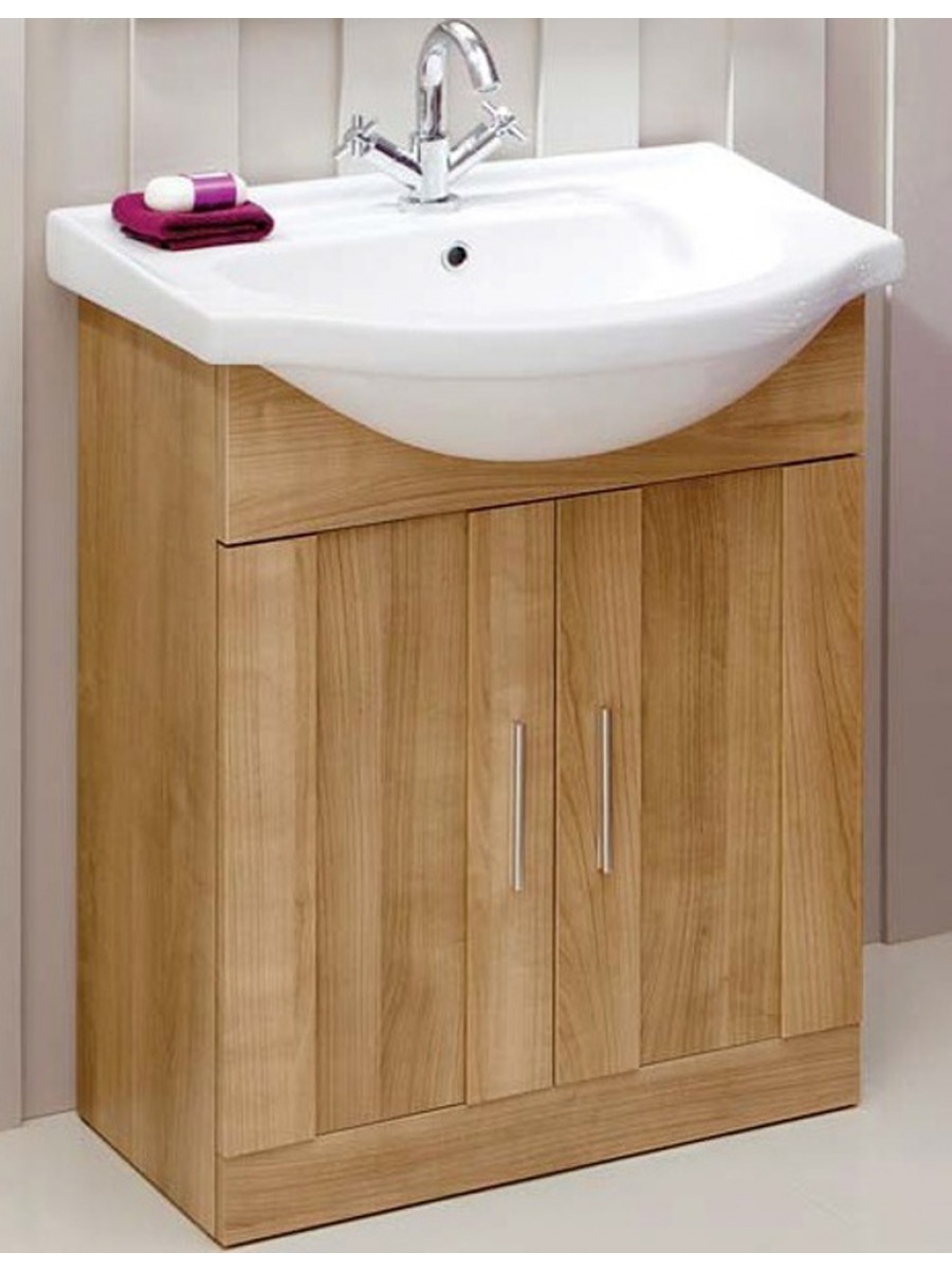 Oslo Oak 65cm Vanity Unit & Basin