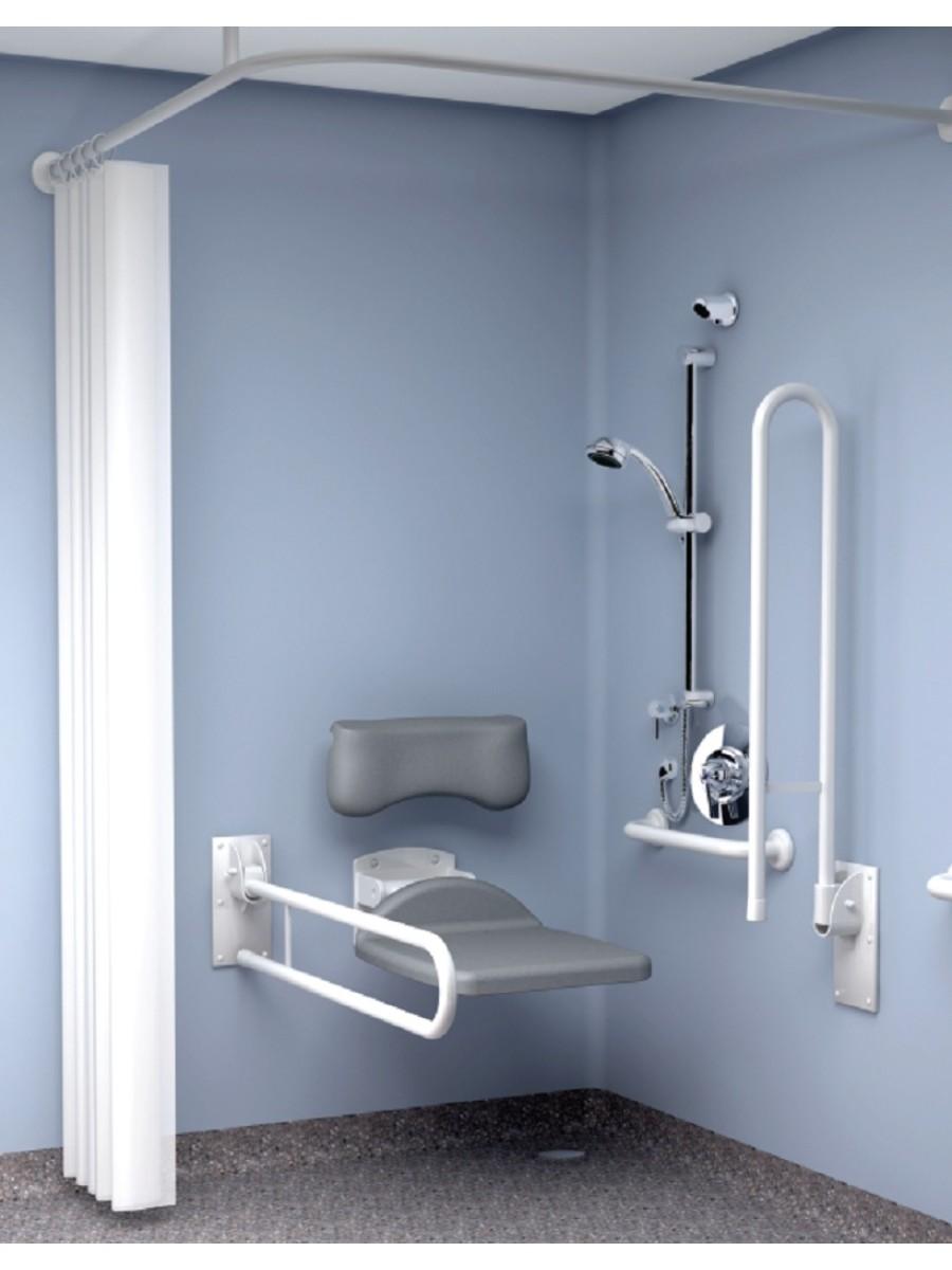 Inta Doc M Shower Pack Concealed Valve - Blue Rails