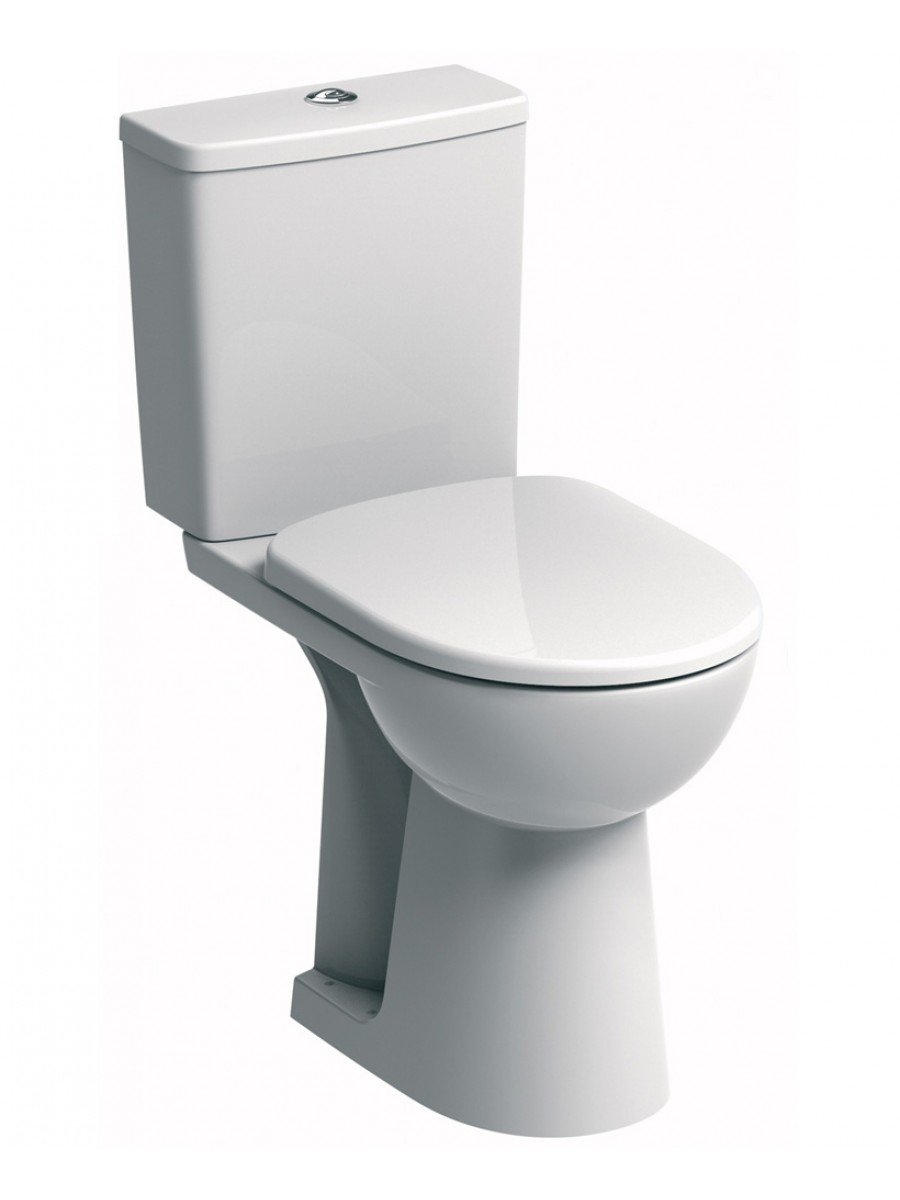 E100 Square Close Coupled Comfort Height Toilet & Standard Seat