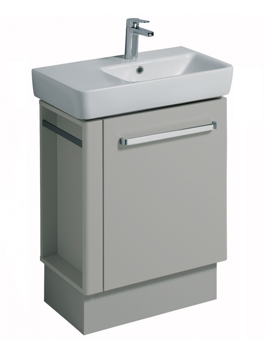 E200 650 Grey Vanity Unit Floor Standing with LH Towel Rail