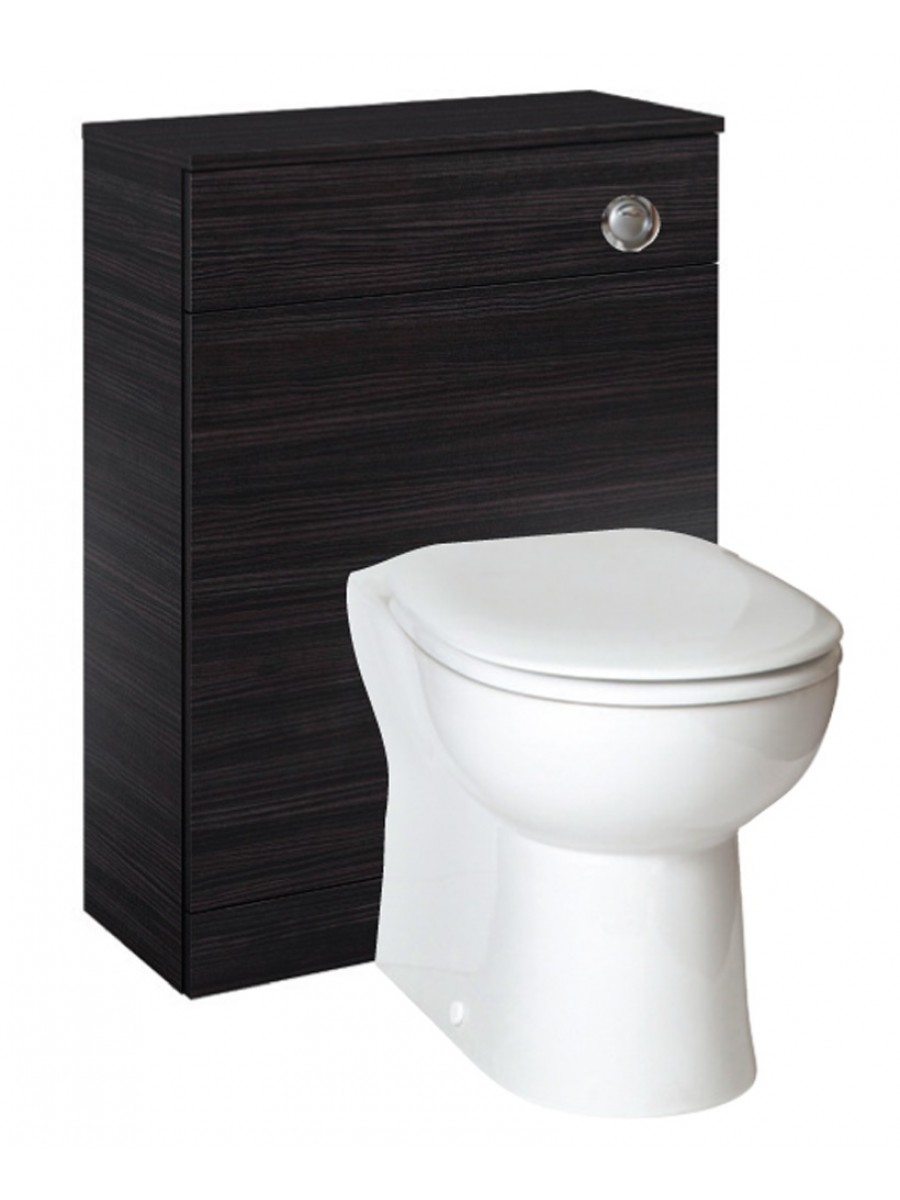 Porto Black  Back to Wall Slimline Unit with Concealed Cistern