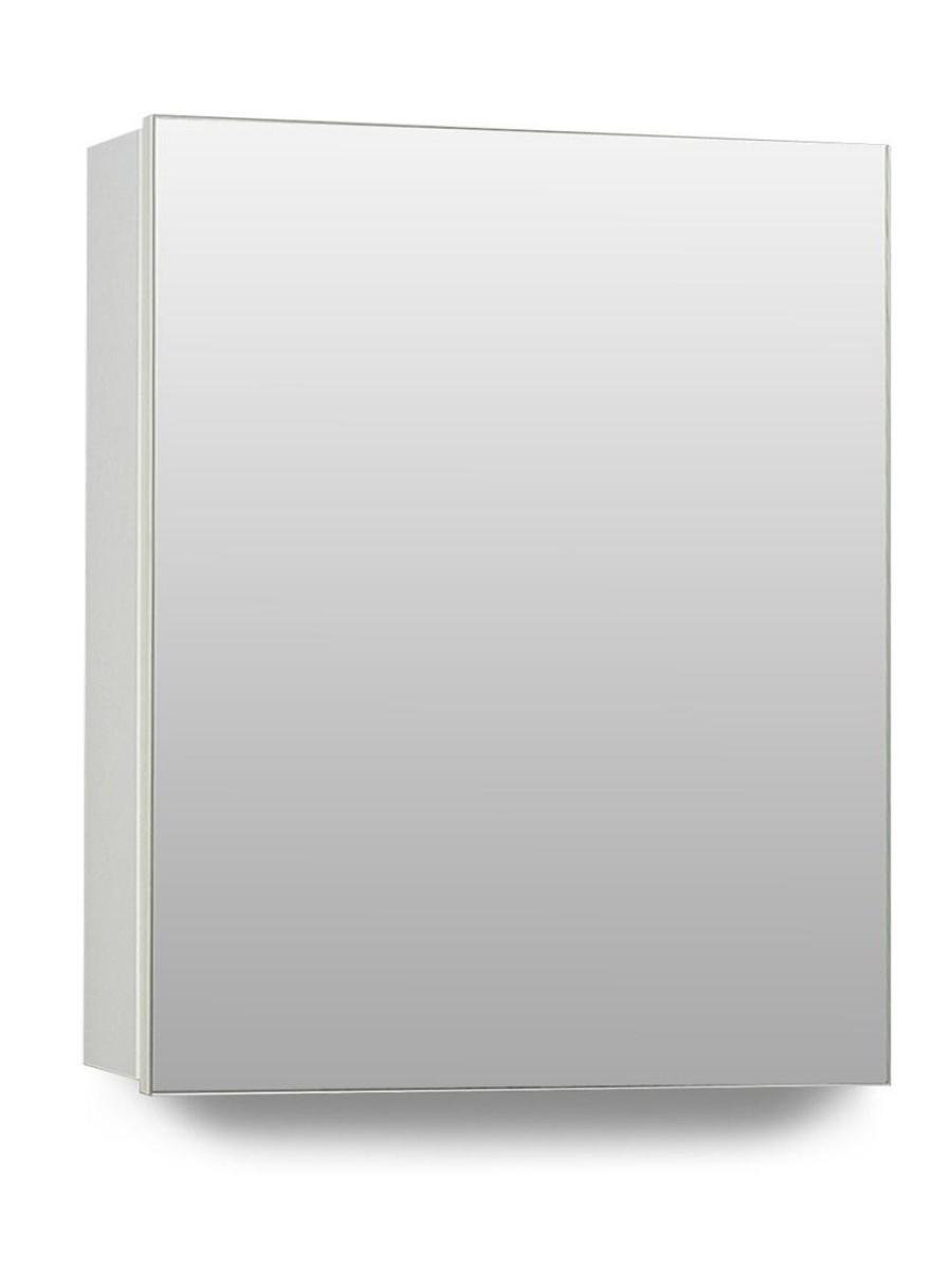 Hampton 1 Door Mirror Cabinet 40cm White