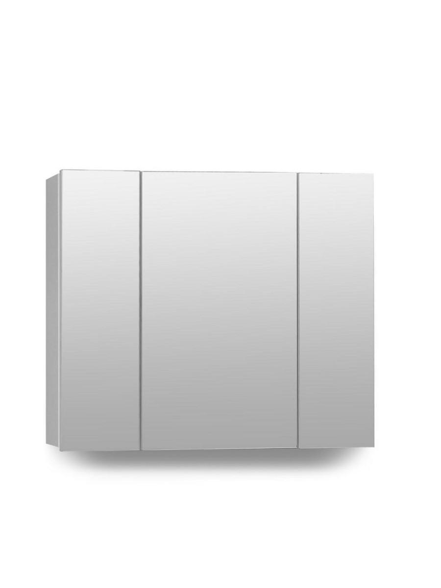 hampton 3 door mirror cabinet 80cm white
