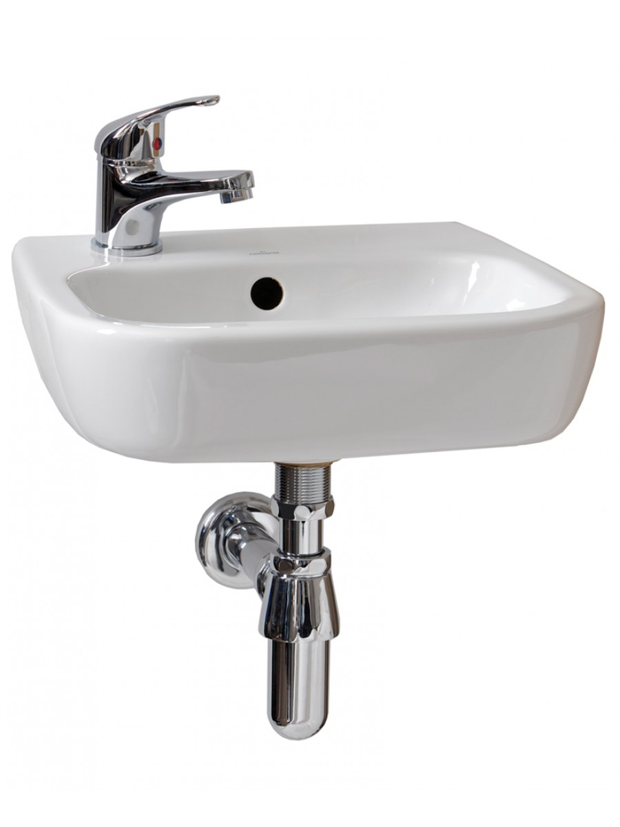Facile 40cm Handrinse Basin LH - *Special Offer includes Cosmos Basin Mixer