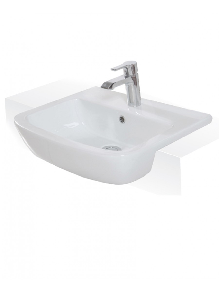 Florence 52cm Semi Recessed Washbasin 1TH