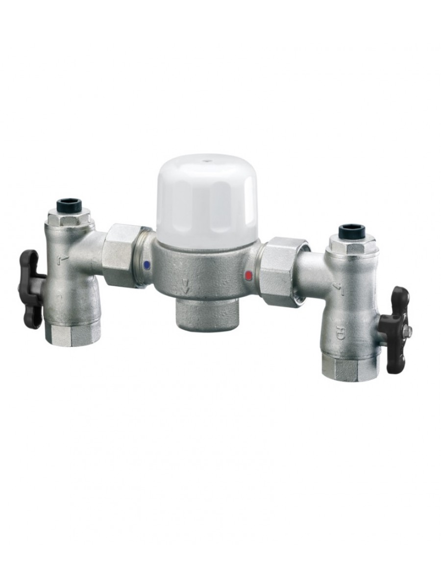 "Heatguard 1"" x 1"" Euromixer Thermostatic Group Mixing Valve"